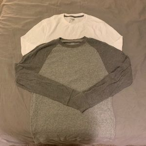 Old Navy Thermal Longsleeves Grey and White